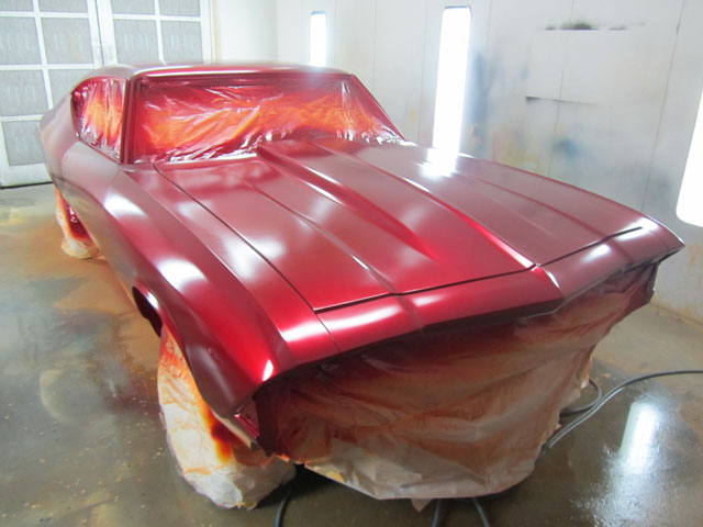Candy Apple Red, ready for clear 1