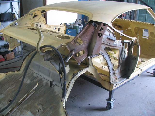 Quarter panel removed